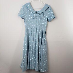 Vintage Polka Dot 50's Gown Town Midi Dress